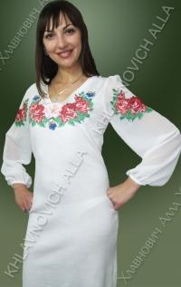 """Платье """"Розы на белом"""" Модель 134-В"""