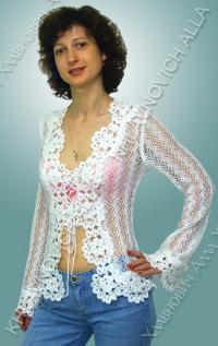 """..... Блуза """"Снежинка""""..... Модель 25"""