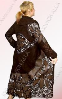 .....Пальто с кожей..... Модель 28