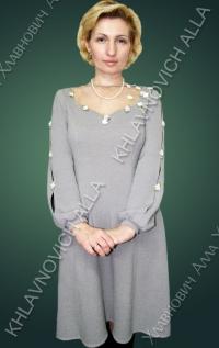 ..... Серое платье ..... Модель 629