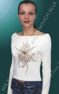 """Блуза """"Жемчужный цветок"""" Модель 79-В"""