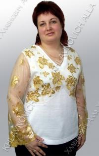 """Блуза """"Золотистый листопад"""" Модель 92-В"""