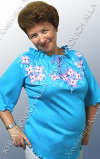 """Блуза """"Яблони в цвету-2"""" Модель 103-В"""
