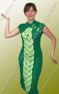 """Платье """"Салатовое на зеленом"""" Модель 11"""