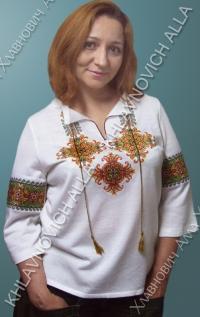 Блуза вышитая крестиком. Модель 131-В