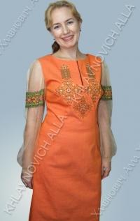 Платье вышитое крестиком. Модель 137-В