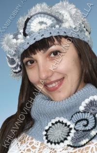 Комплект берет и шарф Модель 110