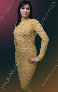 """Платье """"Теплая карамель"""" Модель 760"""