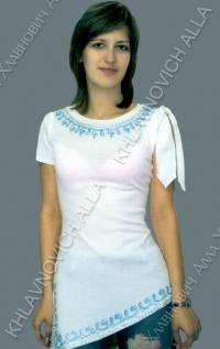 """Блуза """"Голубой ручеек"""" Модель 655"""