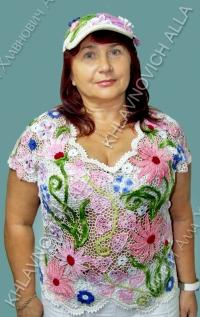 """Блуза""""Цветочная песня"""" Модель 583"""