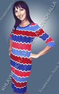 """Платье """"Разноцветная волна"""" Модель 589"""