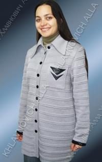 """Жакет """"Серый кардиган"""" Модель 604"""
