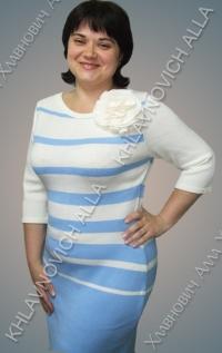 """Платье """"Голубая лесенка"""" Модель 703"""
