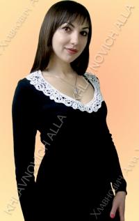 Платье с воротником. Модель 690