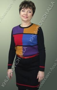 """Платье """"Разноцветные ощущения"""" Модель 676"""
