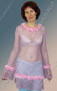Блуза в сеточку. Модель 669