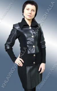 Костюм женский кожаный. Модель 464