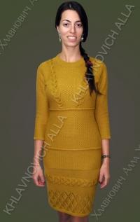 Платье с косами. Модель 775