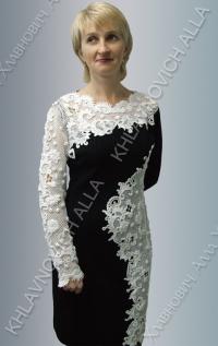 """Платье """"Мороз на стекле рисует"""" Модель 781"""