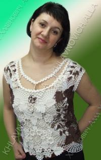 """Блузка """"Кофе хмельной аромат"""" Модель №790"""