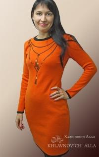 Платье с вышитыми бусами Модель 797