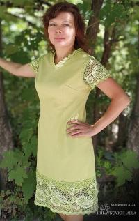 Платье «Салатовое упоение». Модель №816