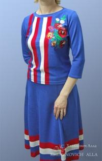 Платье «Васильковый рассвет»» Модель №169-В