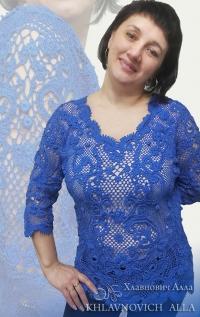 Блуза «Вечернее танго» Модель №821