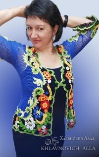 Блуза «Летняя Петриковка» Модель 824