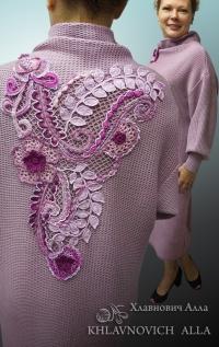 Платье «Сиреневый уют» Модель №828