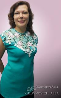Блуза «Бирюзовые переливы» Модель 829